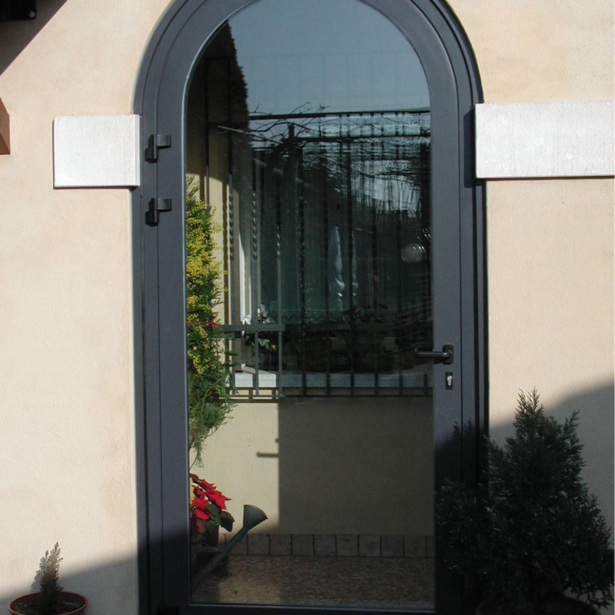 porta blindata profili in alluminio